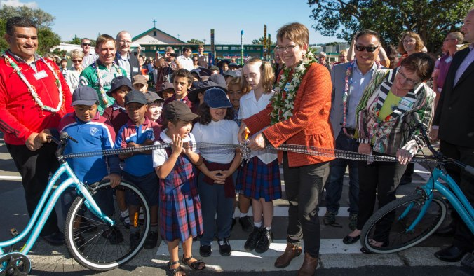 Bikes for Schools launch at Holy Cross School in Miramar